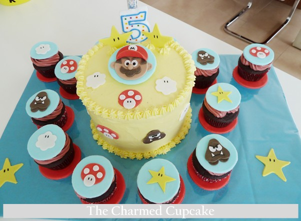 Fine Mario Brothers Cake The Cupcake Gang The Charmed Cupcake Funny Birthday Cards Online Alyptdamsfinfo