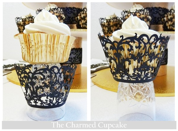 Black and Gold Wedding Cupcakes | The Charmed Cupcake