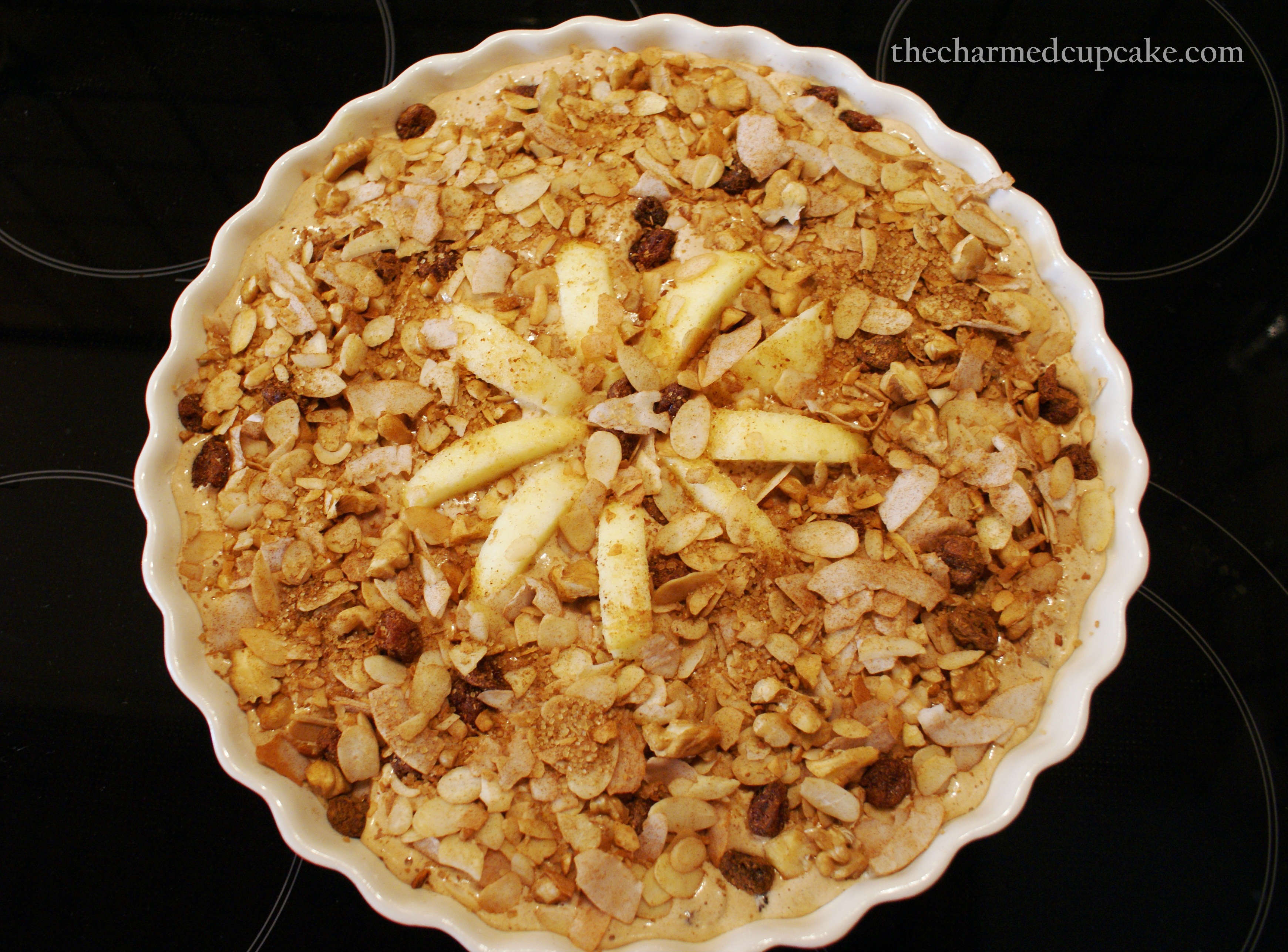 Cinnamon-Apple Walnut Torte | The Charmed Cupcake