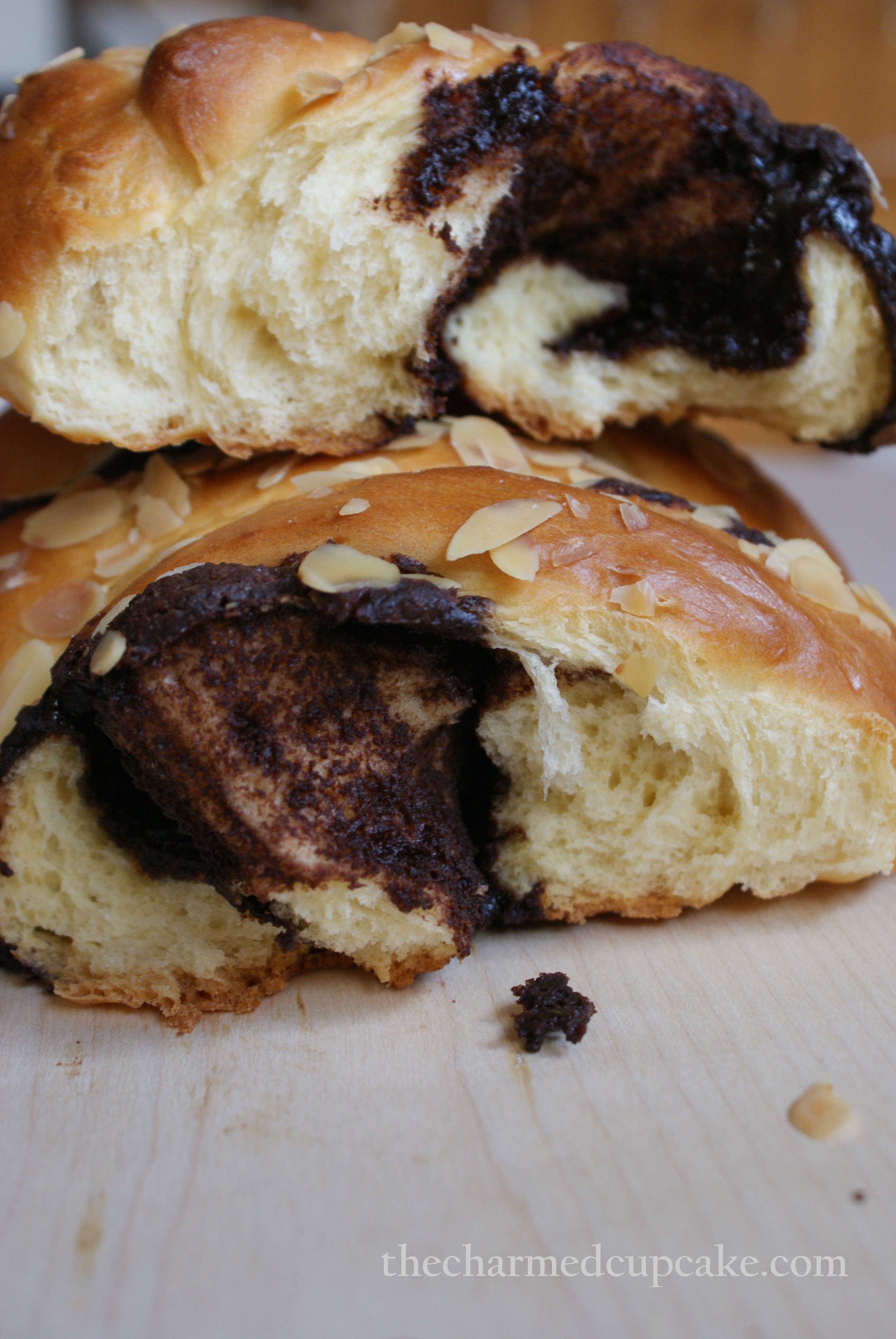 Danish Chocolate Streusel-Swirled Coffee Cake | The Charmed Cupcake