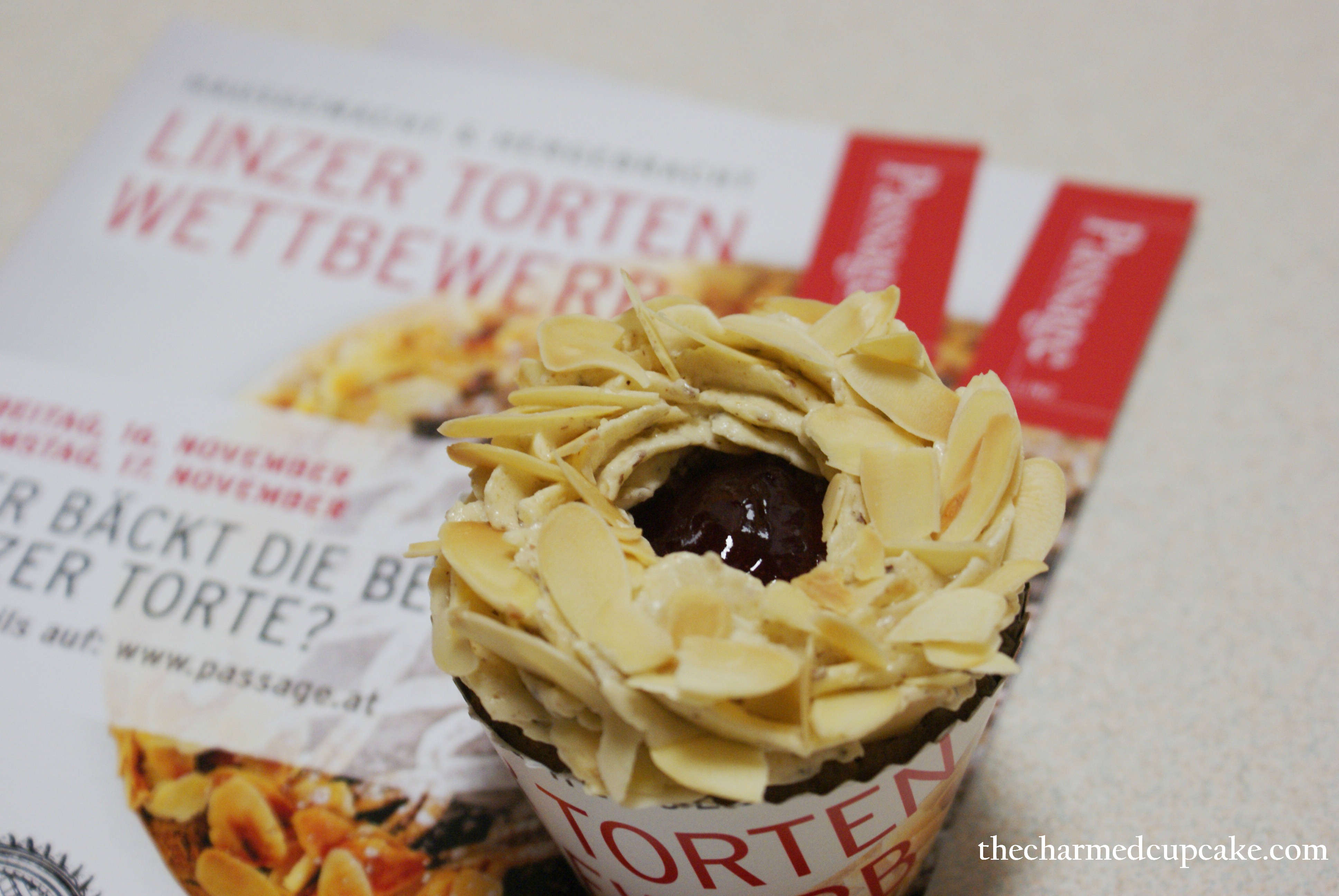 Linzer Torte Cupcakes | The Charmed Cupcake
