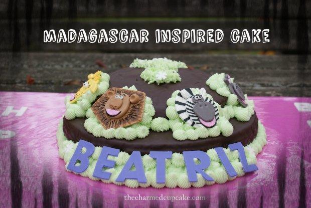 Madagascar inspired cake