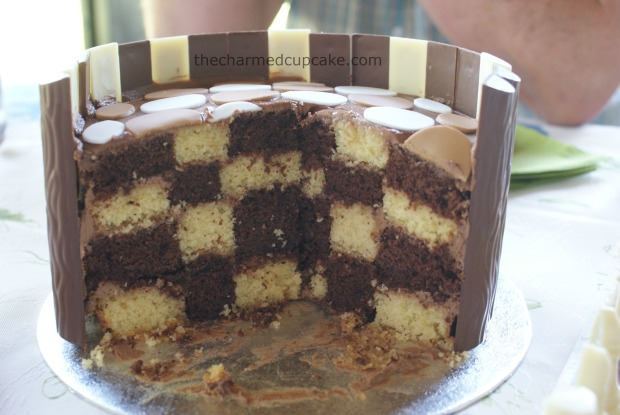 checkered chess cake