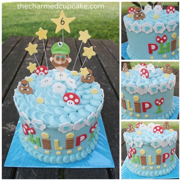 Luigi cake collage