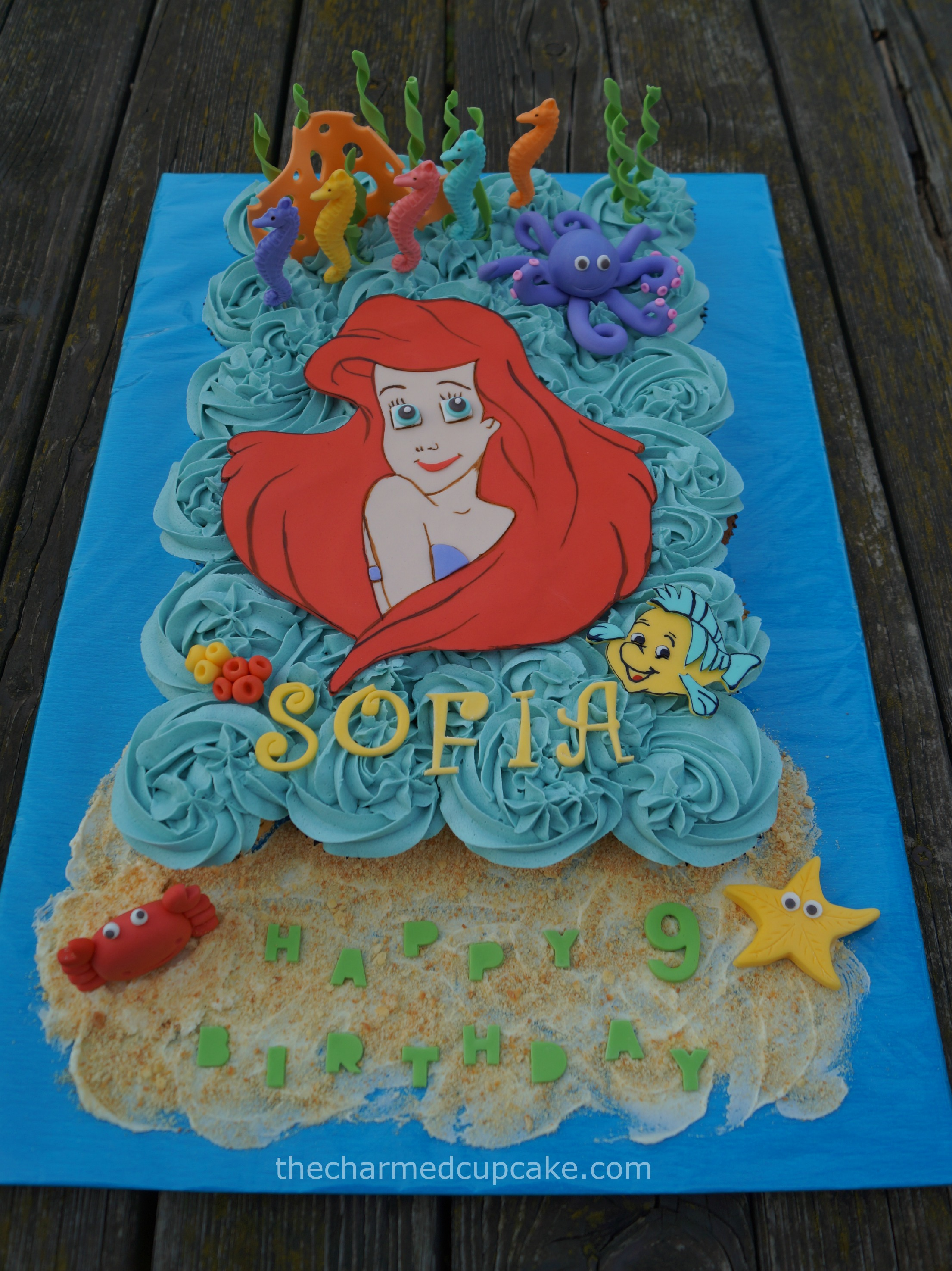Under the Sea Ariel The Little Mermaid Pull Apart Cupcake Cake